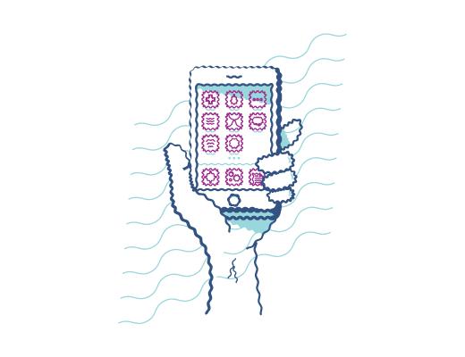 Video ręki trzymającej telefon, na którym obraz jest rozmazany