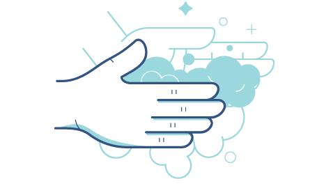 Kroki wyjaśniające jak poprawnie umyć ręce