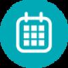 Kalendarz - symbol trybu wymiany soczewek kontaktowych